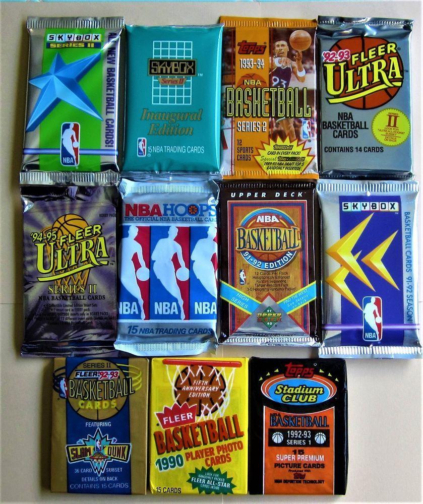 150 basketball cards 11 vintage sealed packs topps fleer