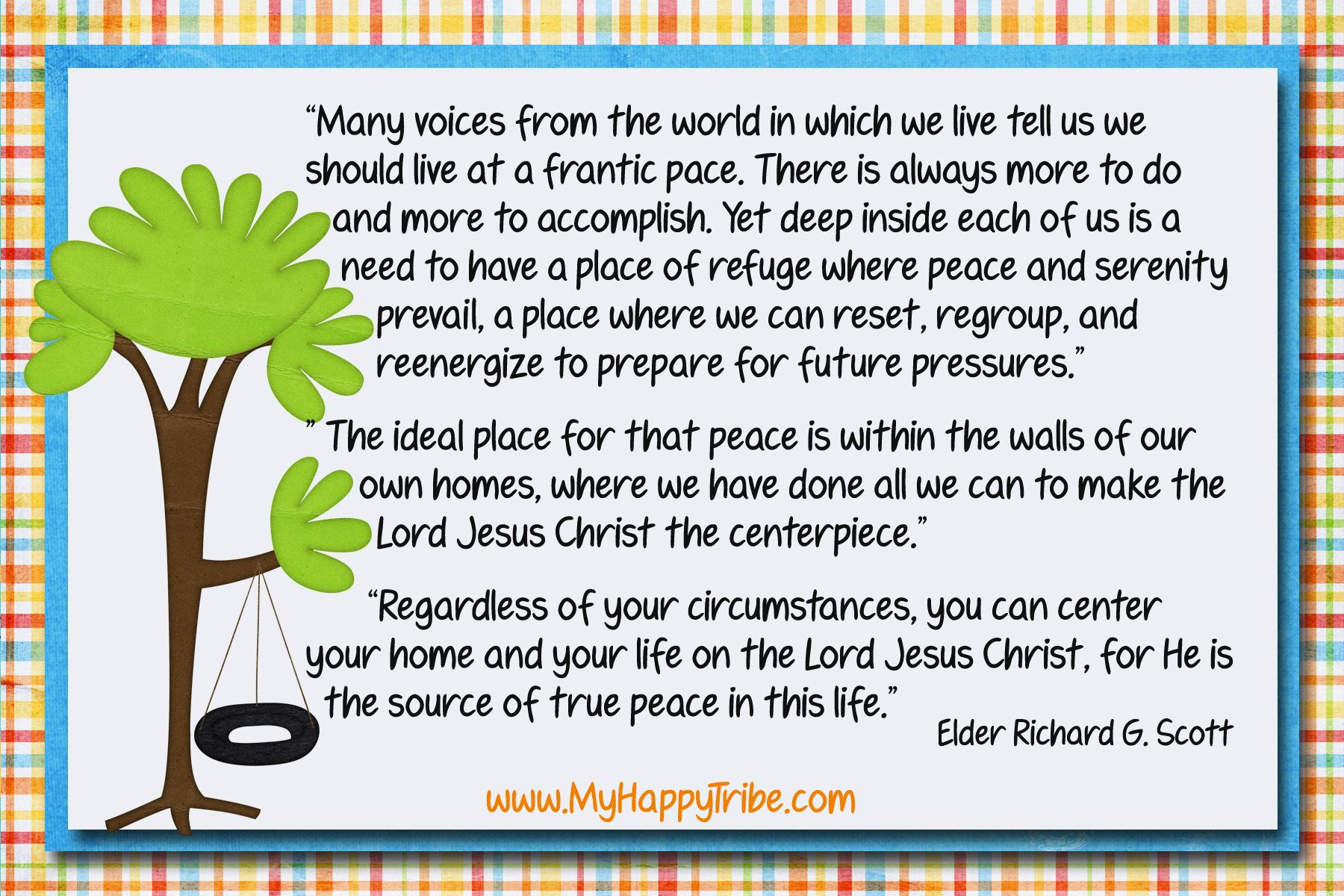For Peace At Home For May Visiting Teaching Message