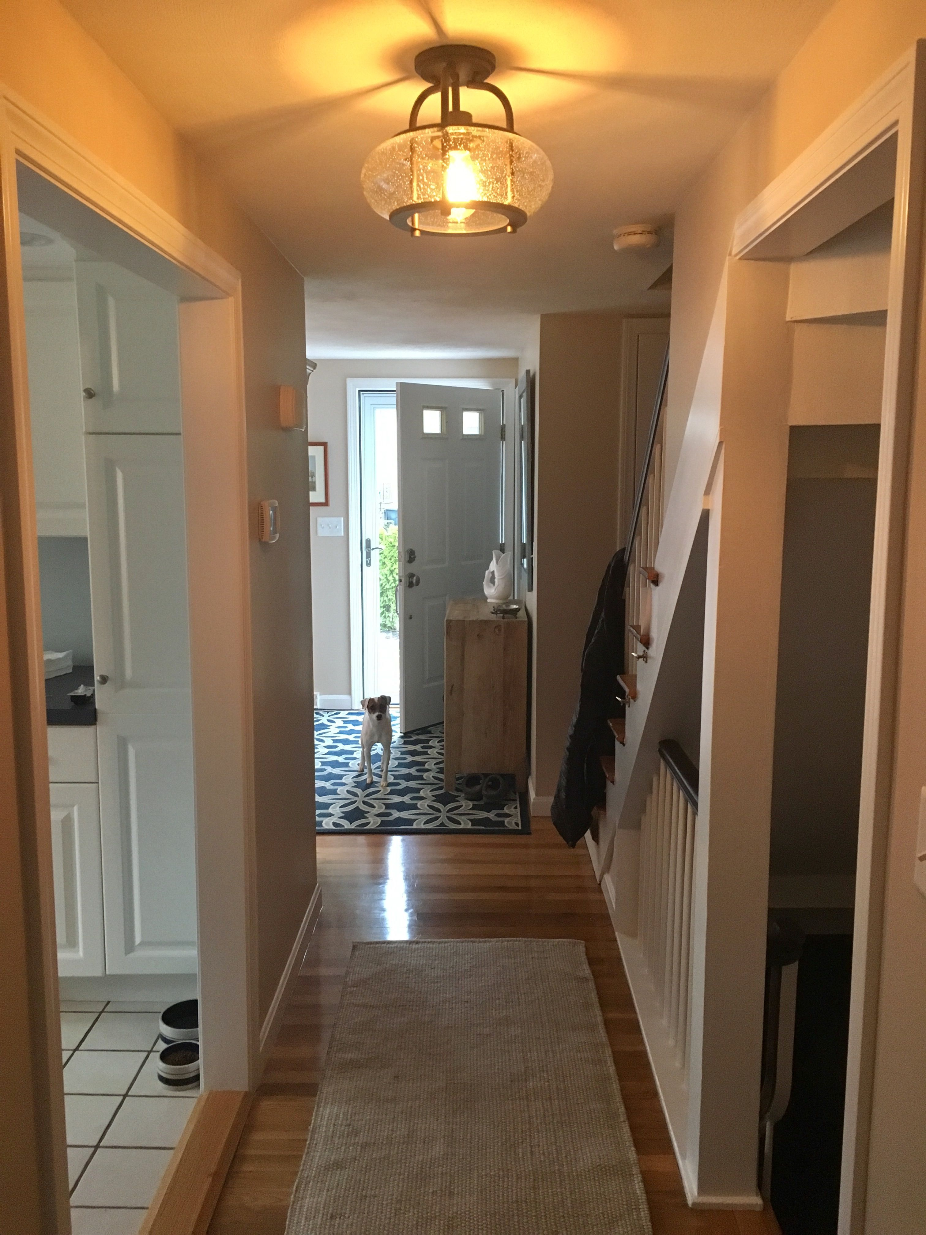 Opening Up A Small Dark Hallway By Doubling Kitchen Entrance