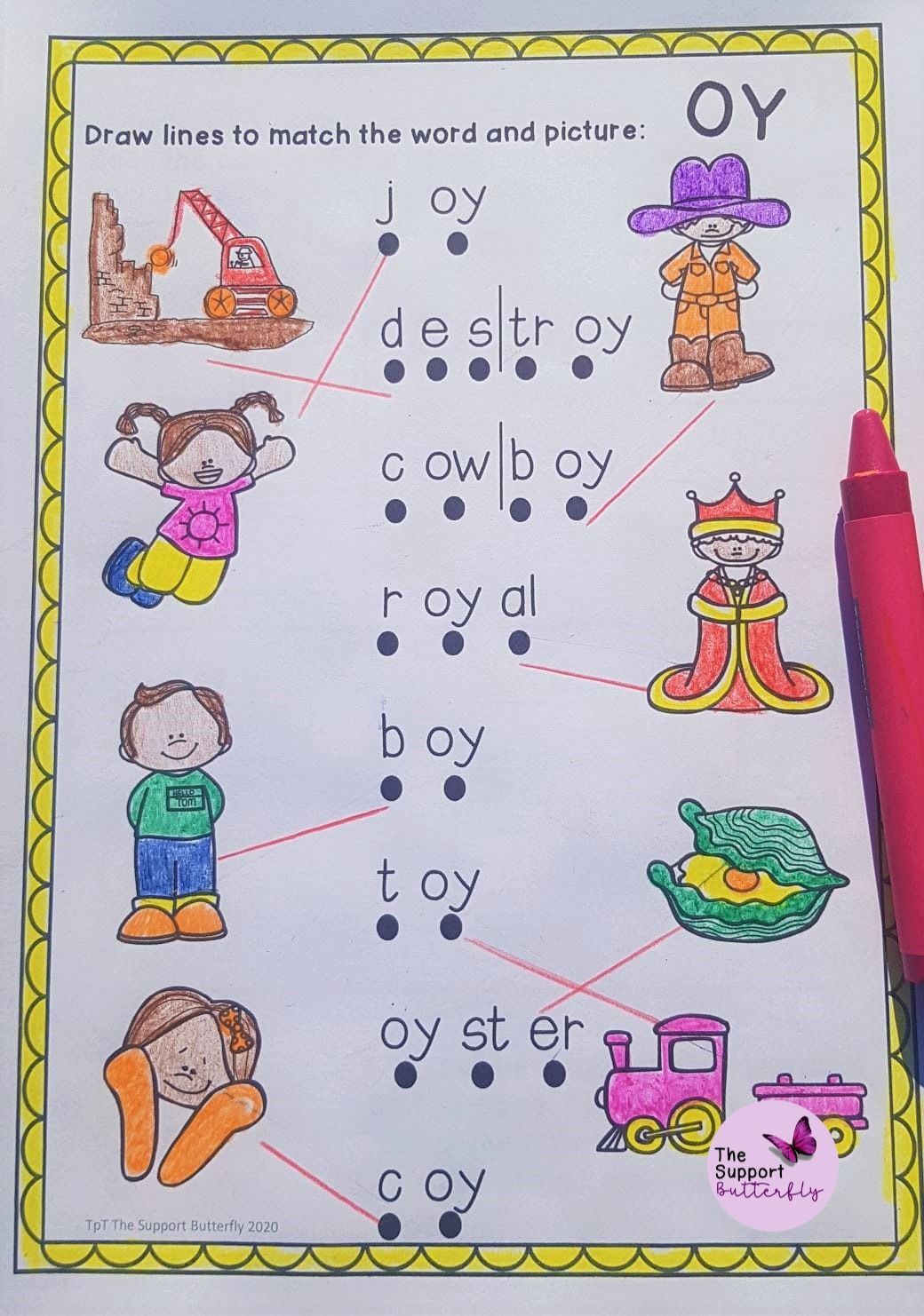 Oy Diphthong Worksheets Spelling Lessons Diphthongs Phonics [ 1482 x 1040 Pixel ]