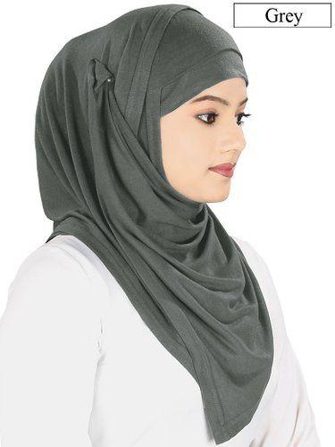 Mybatua Women s Soft Viscose Jersey Hijab and Band Muslim Head Wrap