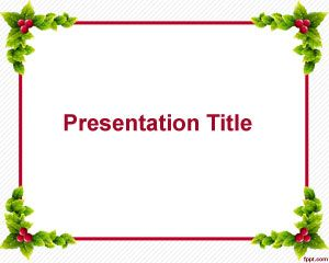 Free Christmas Frame Powerpoint Template Is A Free Theme For