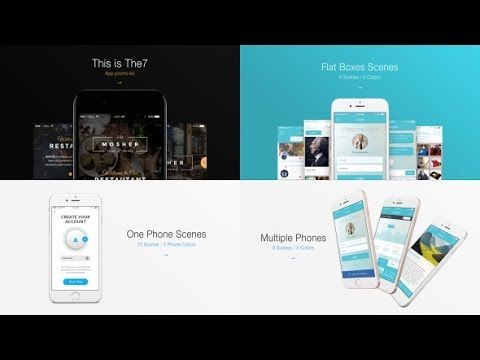 The7 App Presentation Kit After Effects Template Royalty Free