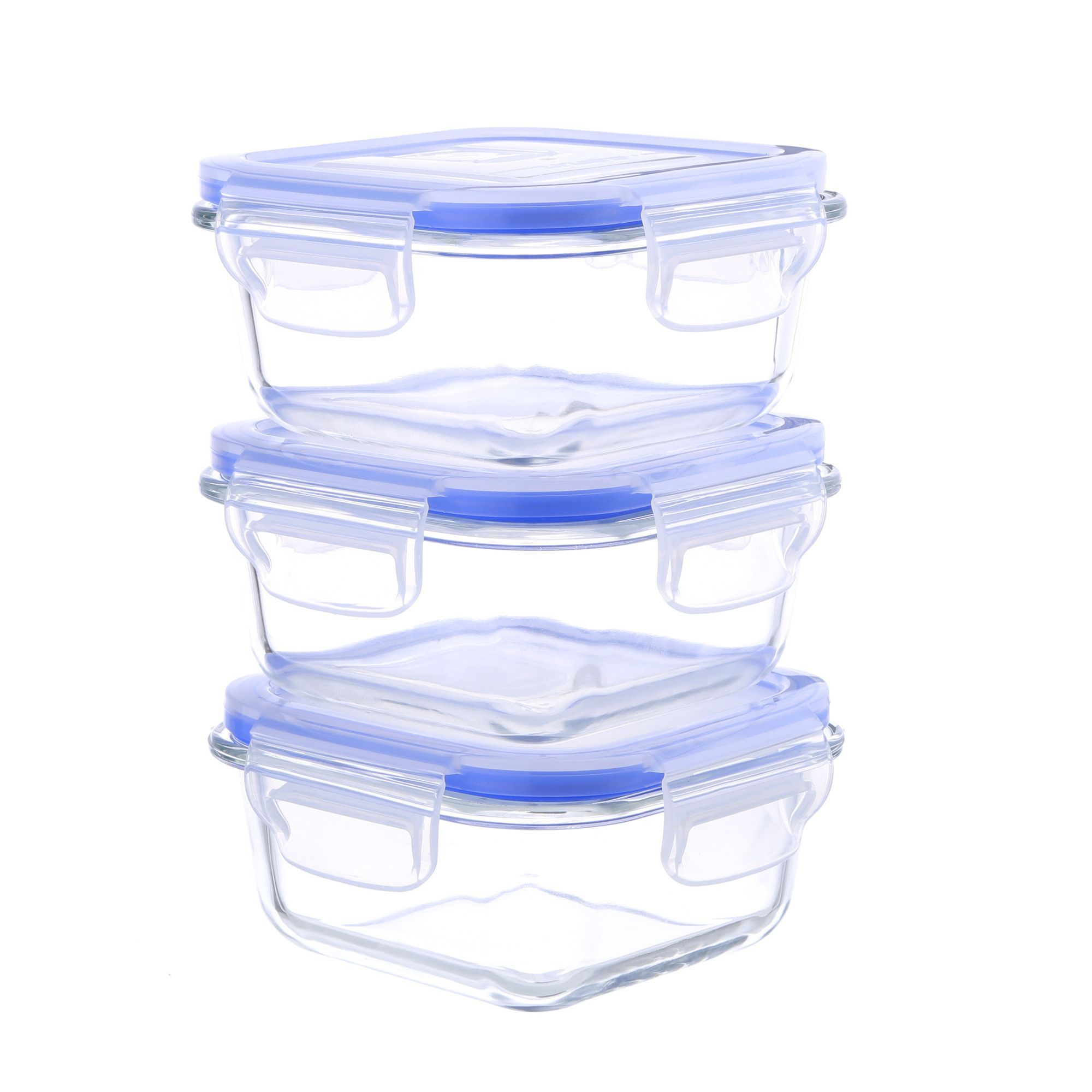 Glasslock Food Storage Container Sets Go Green Glasslock Elements Oven Safe Square 10 Ozfood Storage