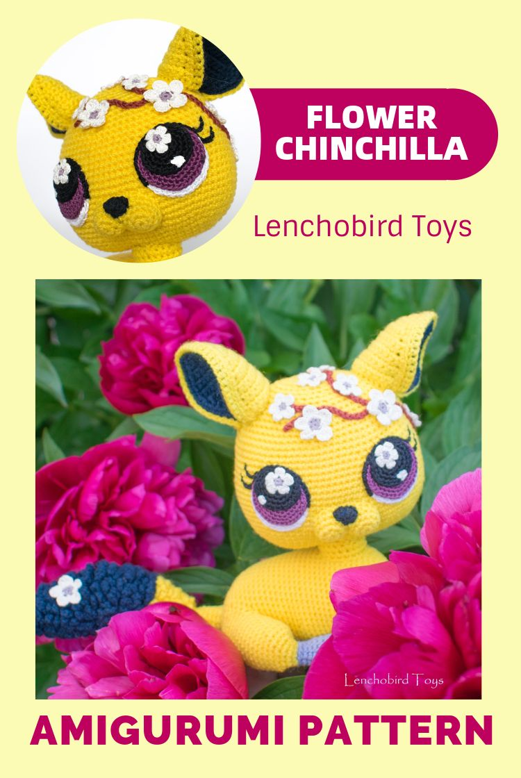 Amigurumi Sheila the chinchilla or kitten pattern by Elena