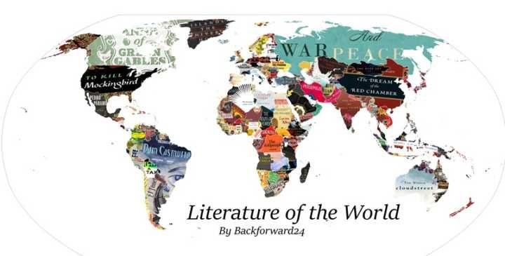 Mapa genial com os clássicos da literatura mundial e seus países
