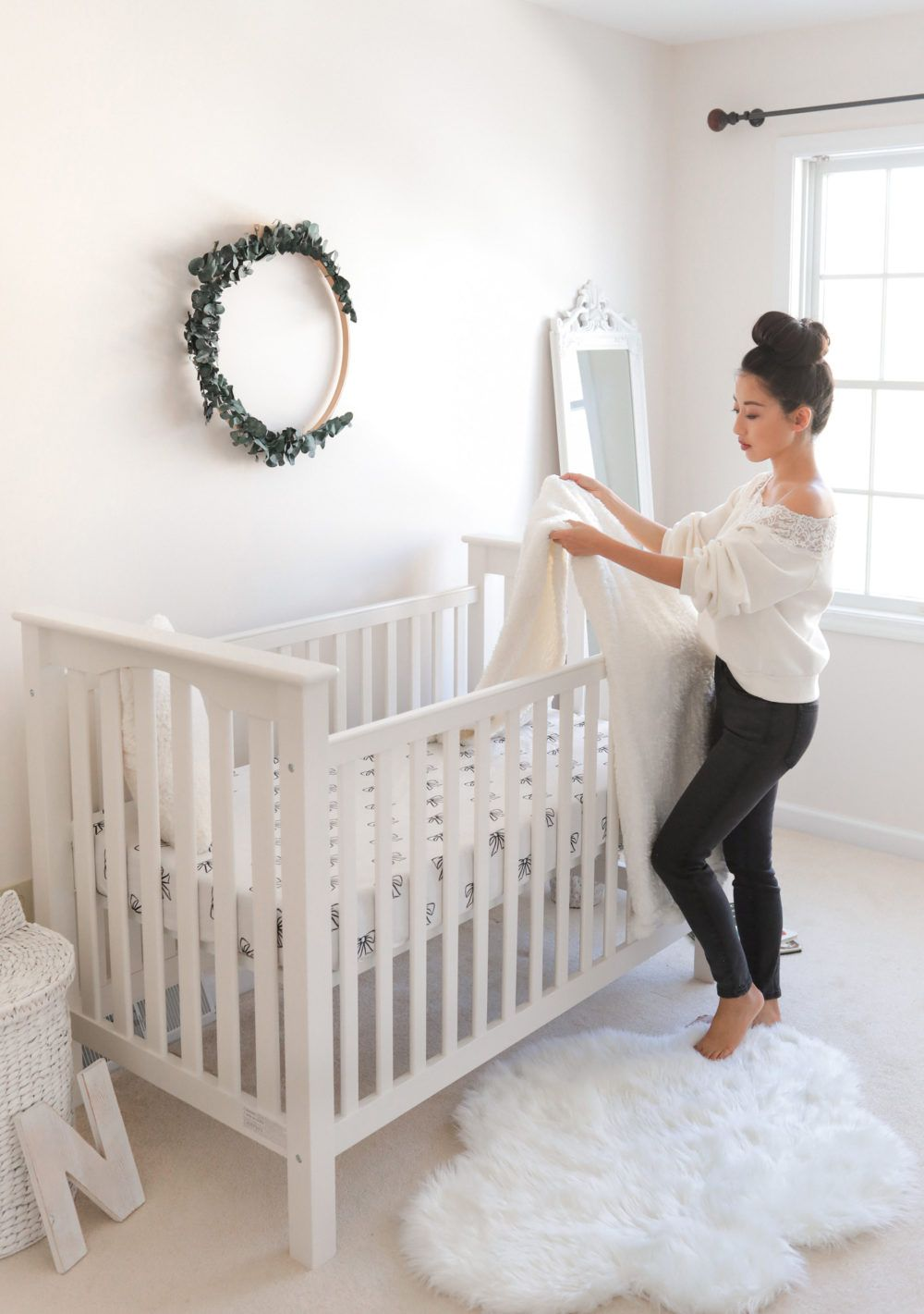 Baby Crib For Petite Moms Pottery Barn Kendall Low Crib Pottery Barn Crib Pottery Barn Baby Baby Cribs