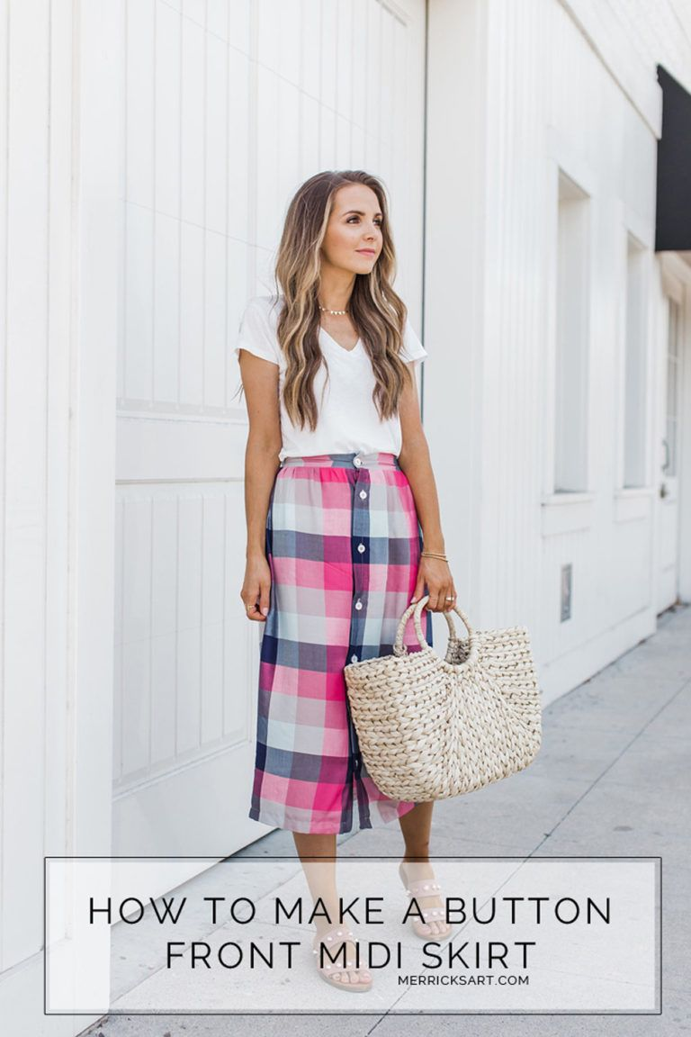 How to Make a Button Front Midi Skirt -   11 DIY Clothes Skirt english ideas