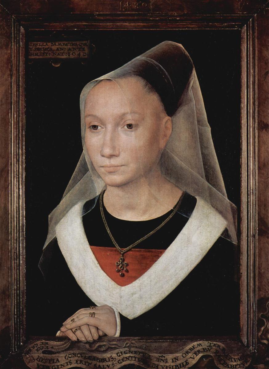 portrait-of-a-young-woman-1480. Hans Memling