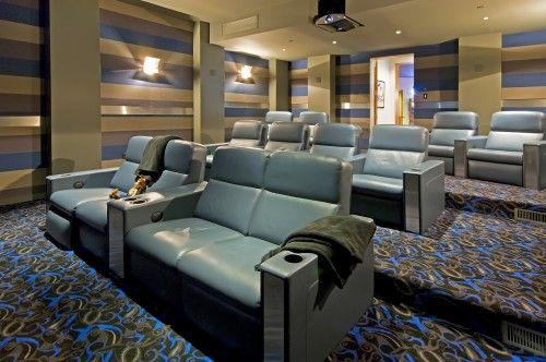 Contemporary Media Room Cool Walls And Carpet Mediarooms Hometheatres Garymcgrattenrealtor