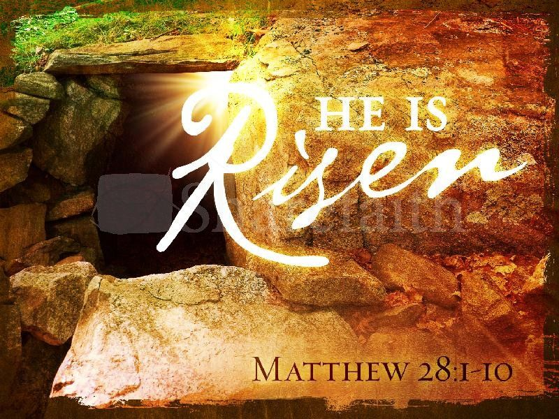 He Is Risen Church PowerPoint Template Easter Sunday - easter powerpoint template
