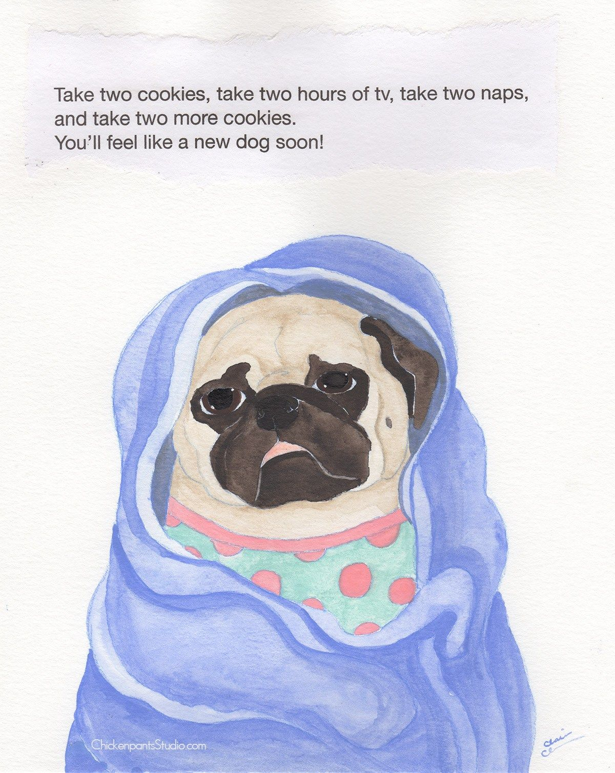 Daily Pug Painting Project Week 45 Pug Art Pugs Dog Quotes