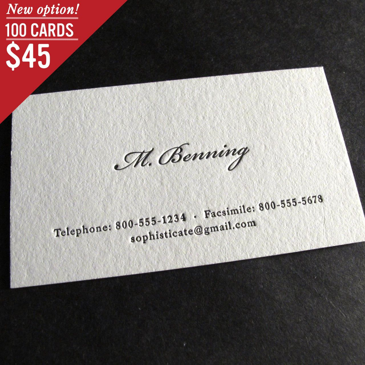 The Aristocrat Letterpress Business Cards Business Card Fonts Calling Cards