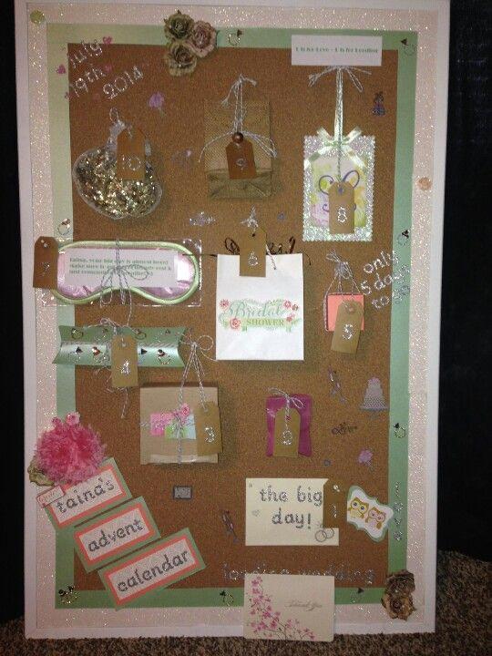 Advent Calendar Gift Ideas : Advent calendar i made my friend for her bridal shower