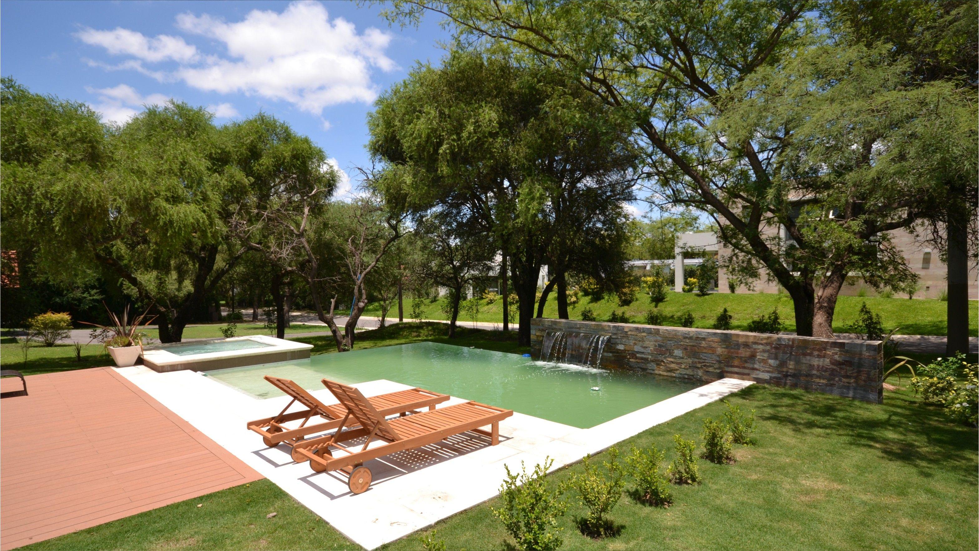 Piscina desborde infinito hidro lengua de agua muro - Diseno de piscinas ...