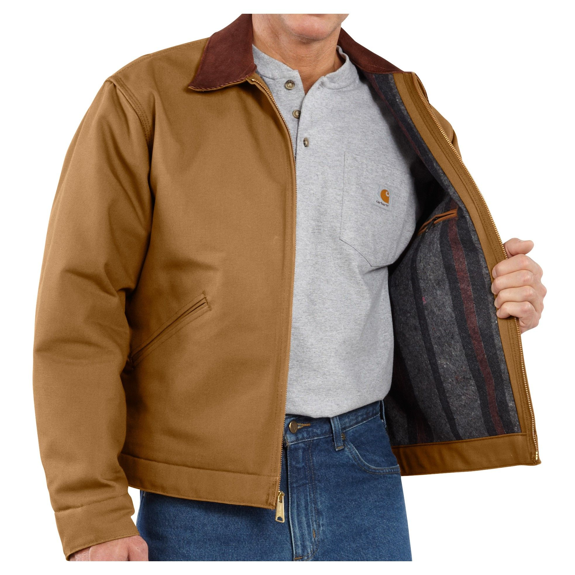 Carhartt Mens Duck Detroit Adjustable Duck Shell Jacket Coat