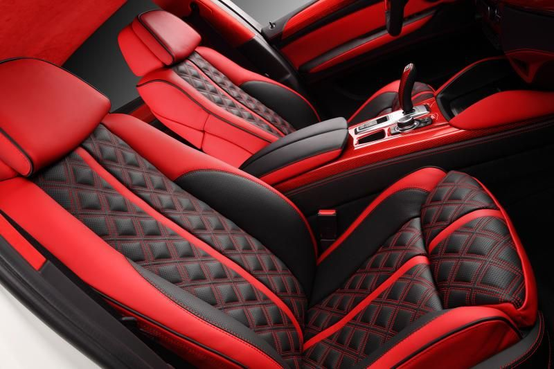 Crazy interior for bmw x6 from topcar red and black grey - How to customize your car interior ...