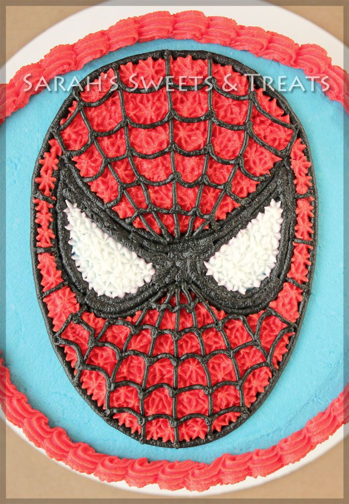 spiderman birthday royal icing and gumpaste decoration