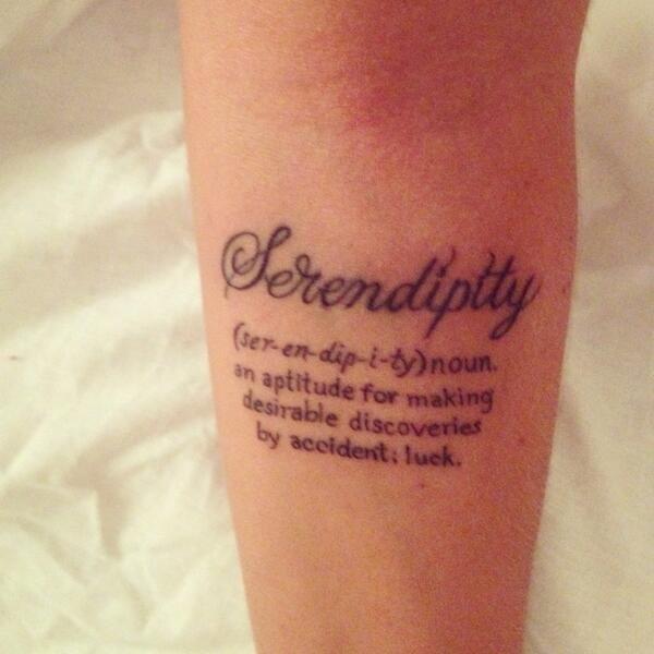 Serendipity Tattoo - Buscar Con Google