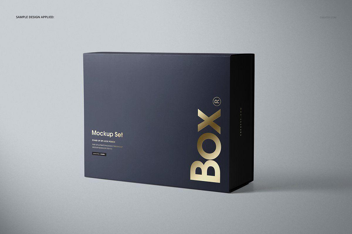 Download Magnetic Gift Box Mockup Set Magnetic Gift Box Box Mockup Business Cards Creative
