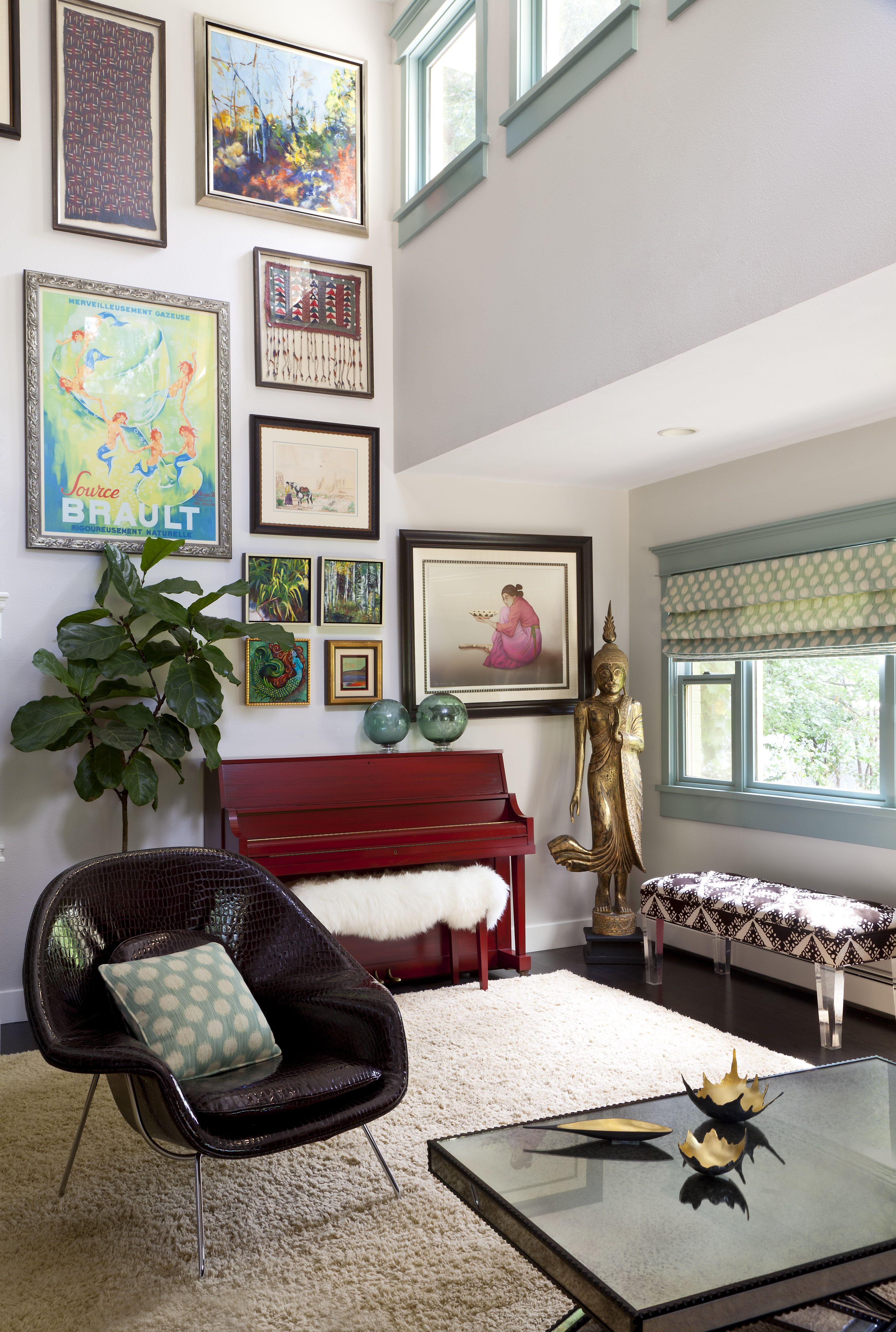 Eclectic Living Room L Andrea Schumacher Interiors