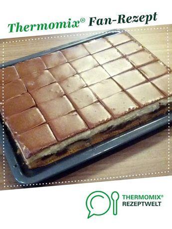 Donauwelle Mit Puddingcreme Und Schokoguss Rezept Blechkuchen Thermomix Thermomix Rezepte Kuchen Thermomix Kuchen