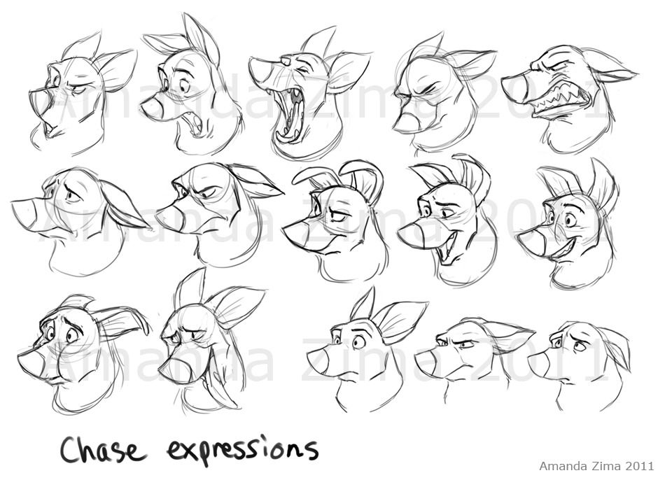 Line Drawings Of Facial Expressions : Amanda s drawing character design references