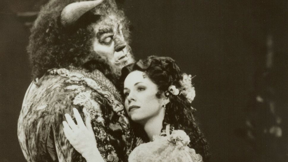 Terrence Mann Beast >> Terrence Mann And Susan Egan In The Original Broadway Cast
