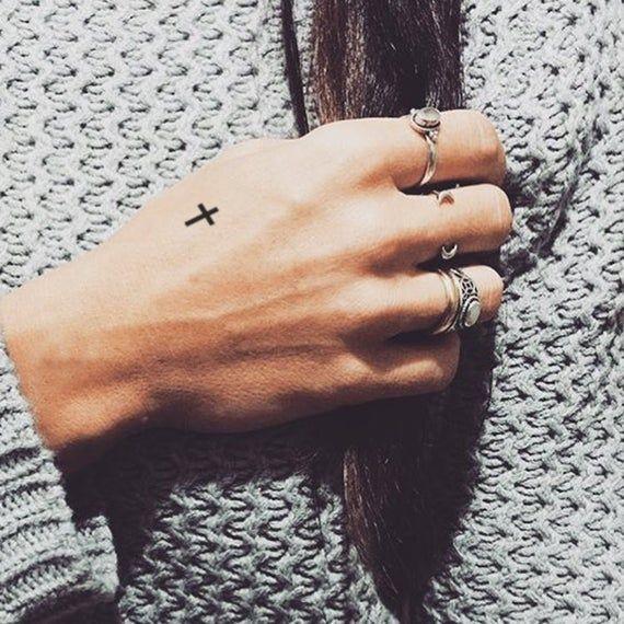 Small Cross Temporary Tattoo Set of 3 | Etsy