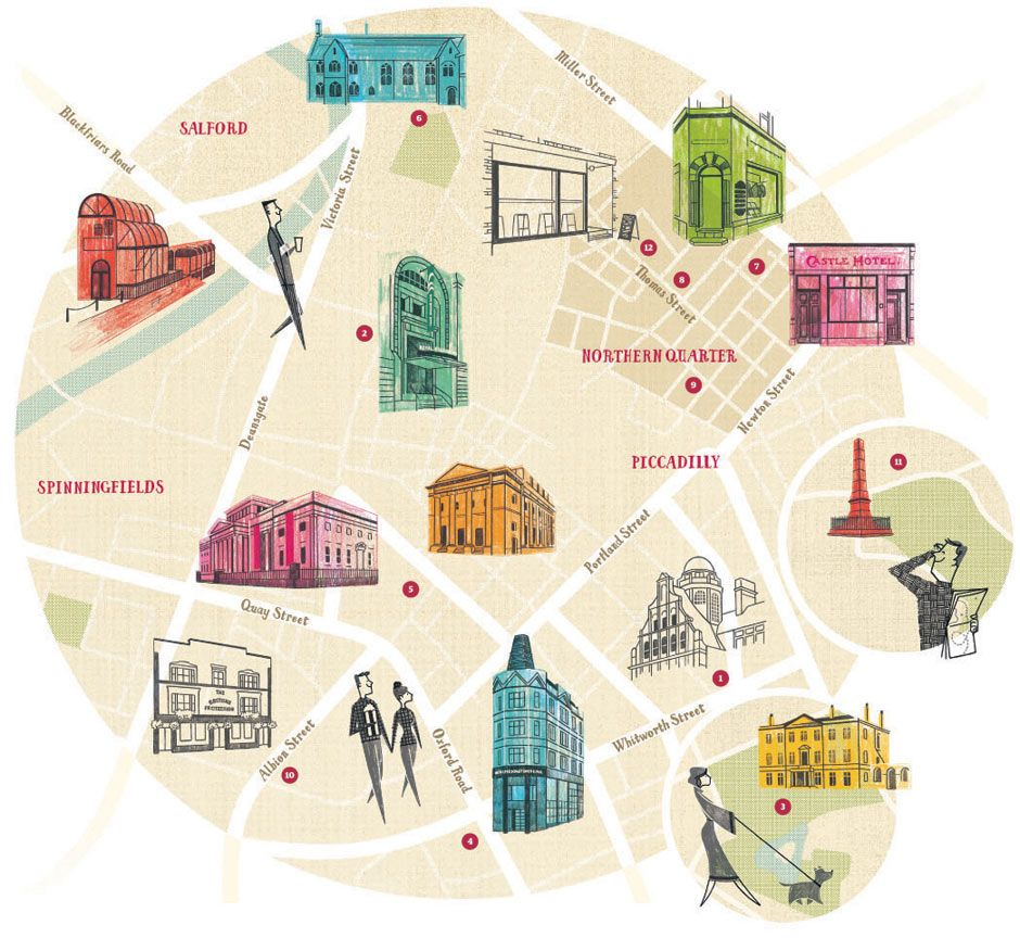 Locals' guide to Manchester | 北欧 | リバプール、マンチェスター、地図