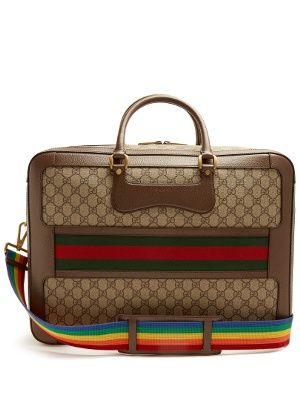 0d9d33ef4468 Click here to buy Gucci GG Supreme Echo canvas weekend bag at  MATCHESFASHION.COM