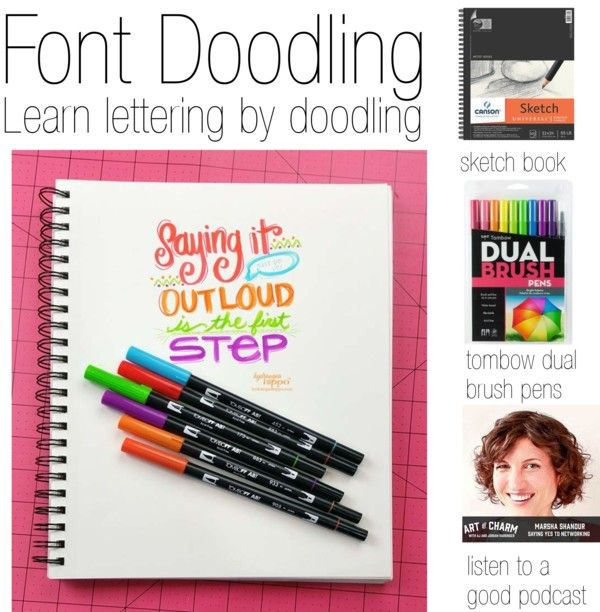 Font Doodling Font Doodling explained + how to do it @Tombow Dual Brush Pens http://buff.ly/1AjYHdP