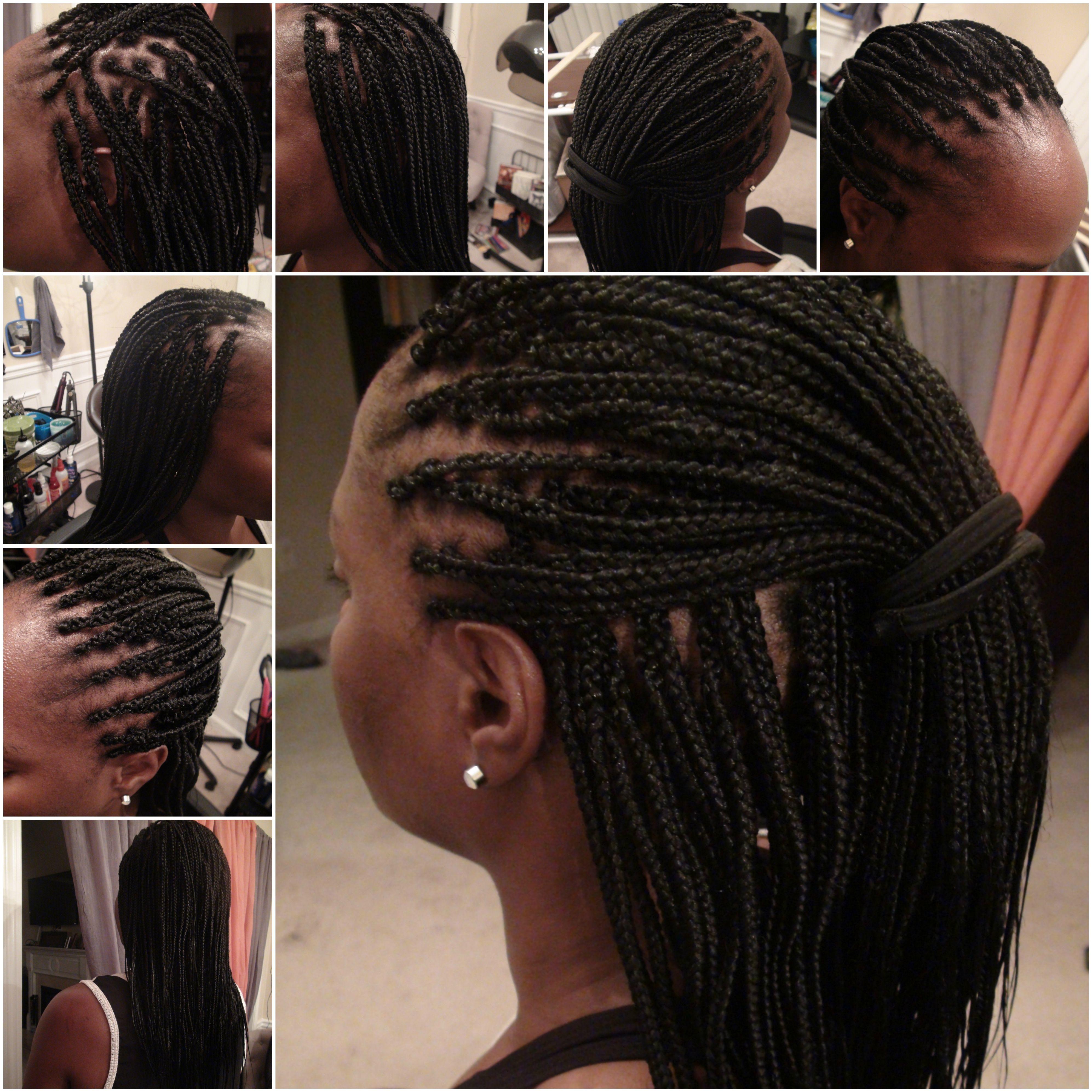Small Box Braids On Thin Fine Hair Length Mid Back Braiding Hair