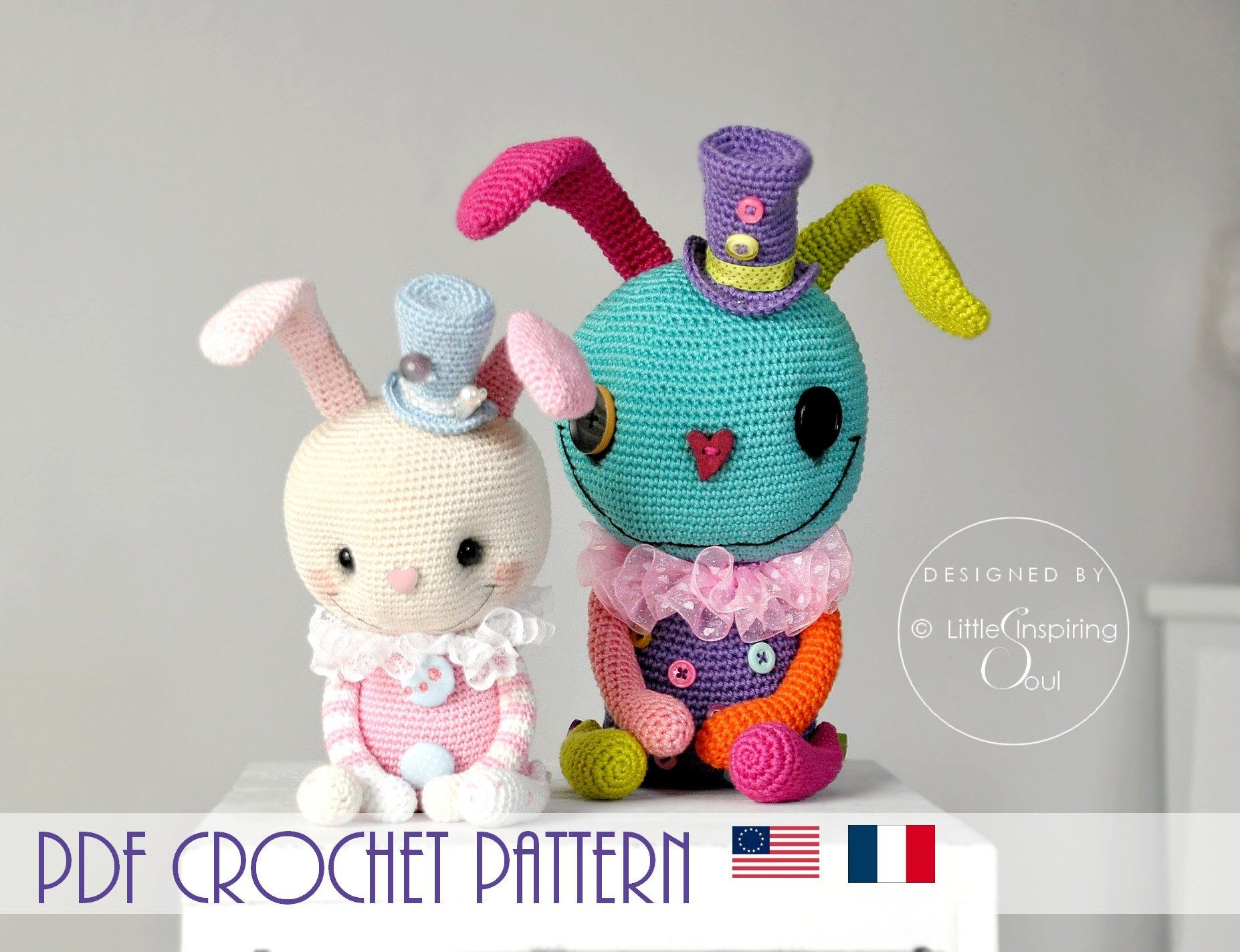 Crochet Motif Lapin - Crochet bébé | Crochet bunny pattern ... | 1424x1854