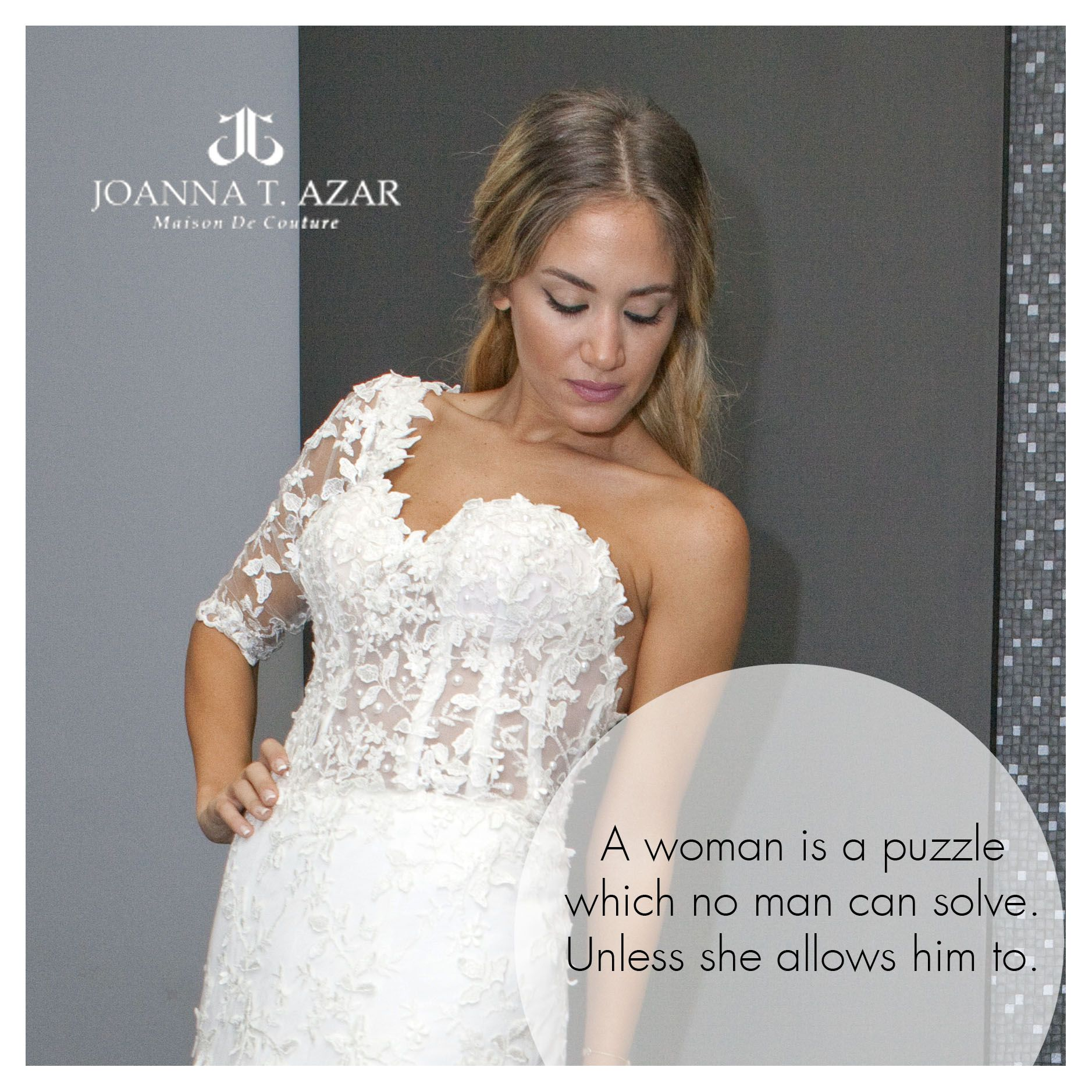 Look mysteriously charming wearing Joanna T Azar