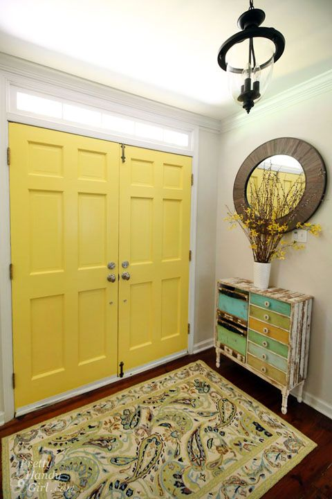 Good Day Sunshine Yellow Painted Doors Paint Pinterest And