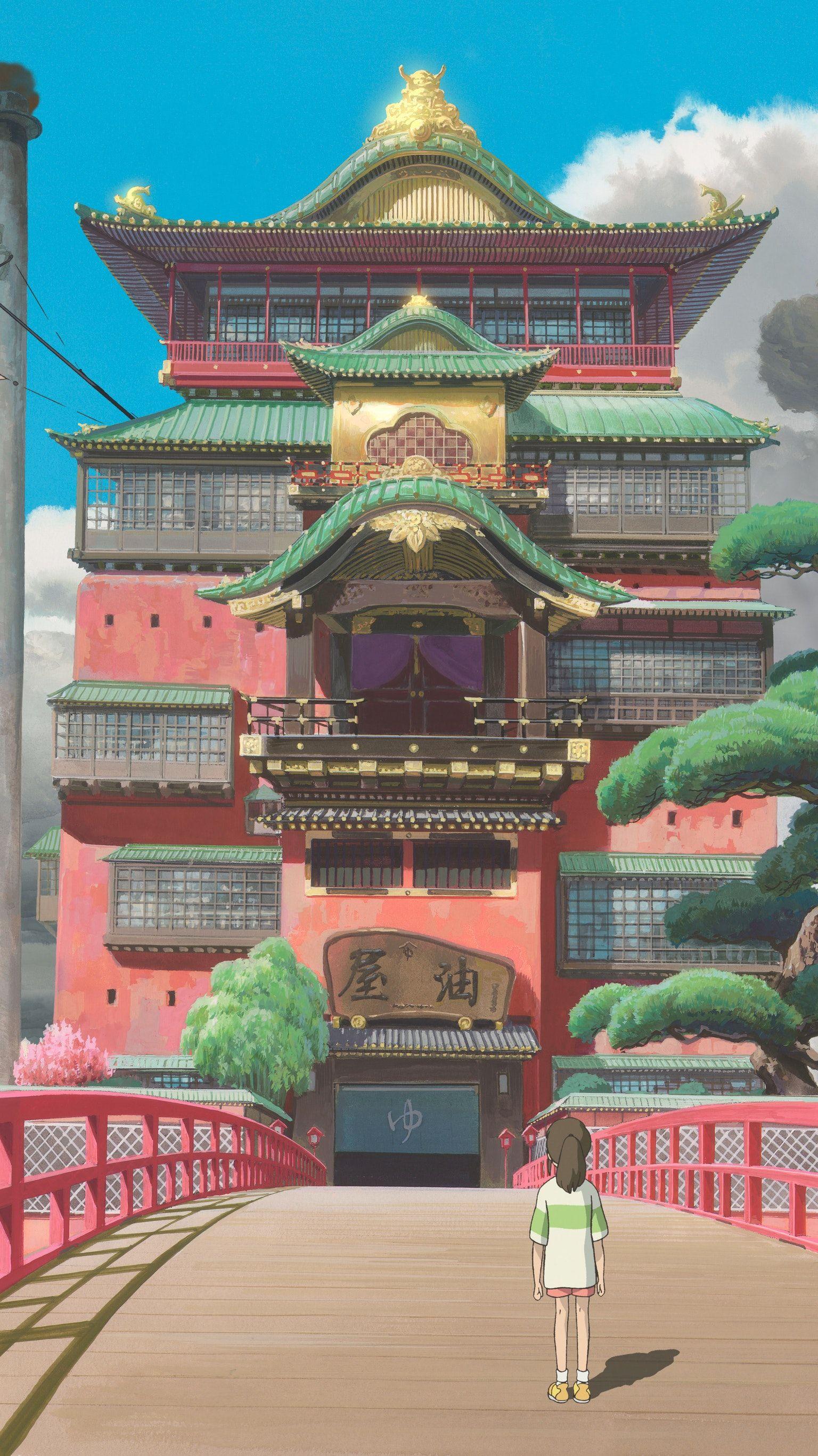 Spirited Away 2001 Phone Wallpaper Moviemania Studio Ghibli Movies Studio Ghibli Studio Ghibli Background