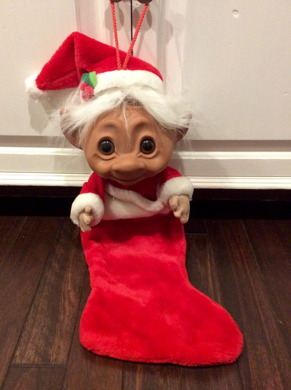 Norfin Big Head Troll Doll Christmas Stocking, Troll Stocking ...