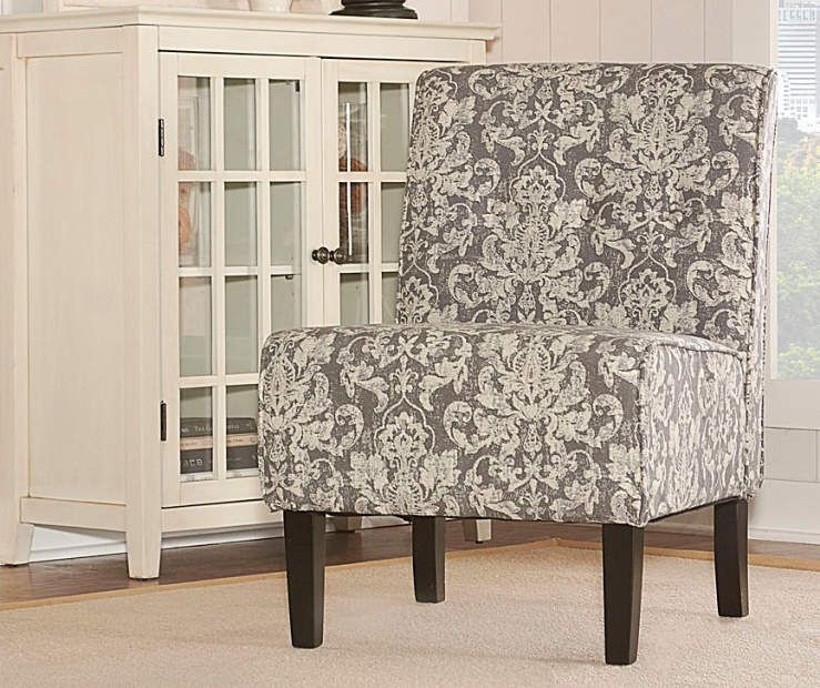 Incredible Gray Damask Armless Accent Chair Apartment Needs Accent Dailytribune Chair Design For Home Dailytribuneorg