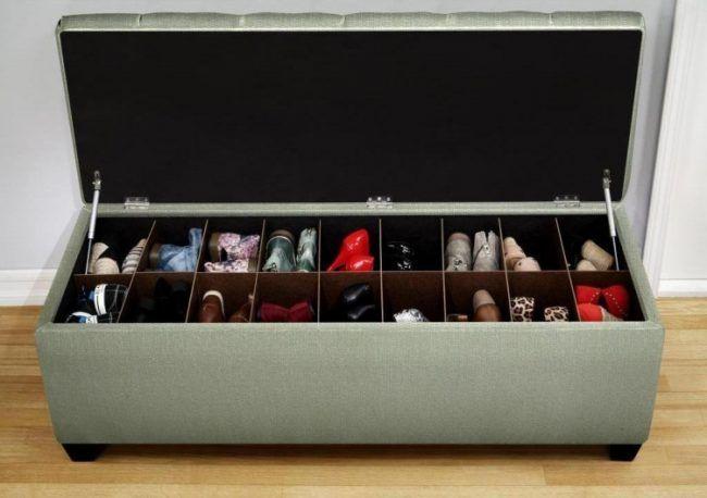 Schuhregal Design Mit Kreativen Einsatzmoglichkeiten Bank Mit