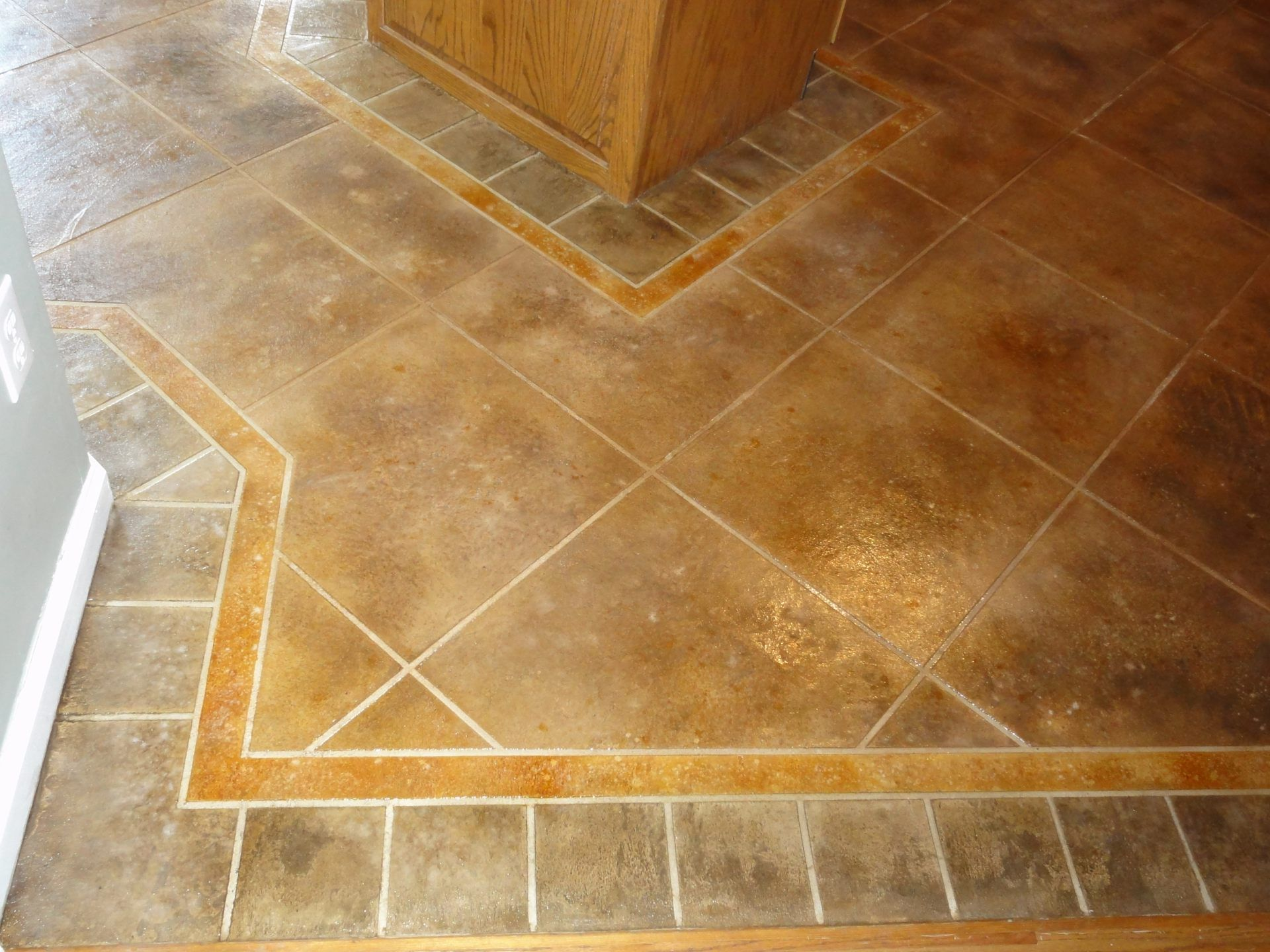 floor tile patterns | concrete kitchen floor random tile pattern