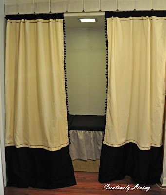Black White Curtains With Ribbon And Trim Window Treatments Pinterest