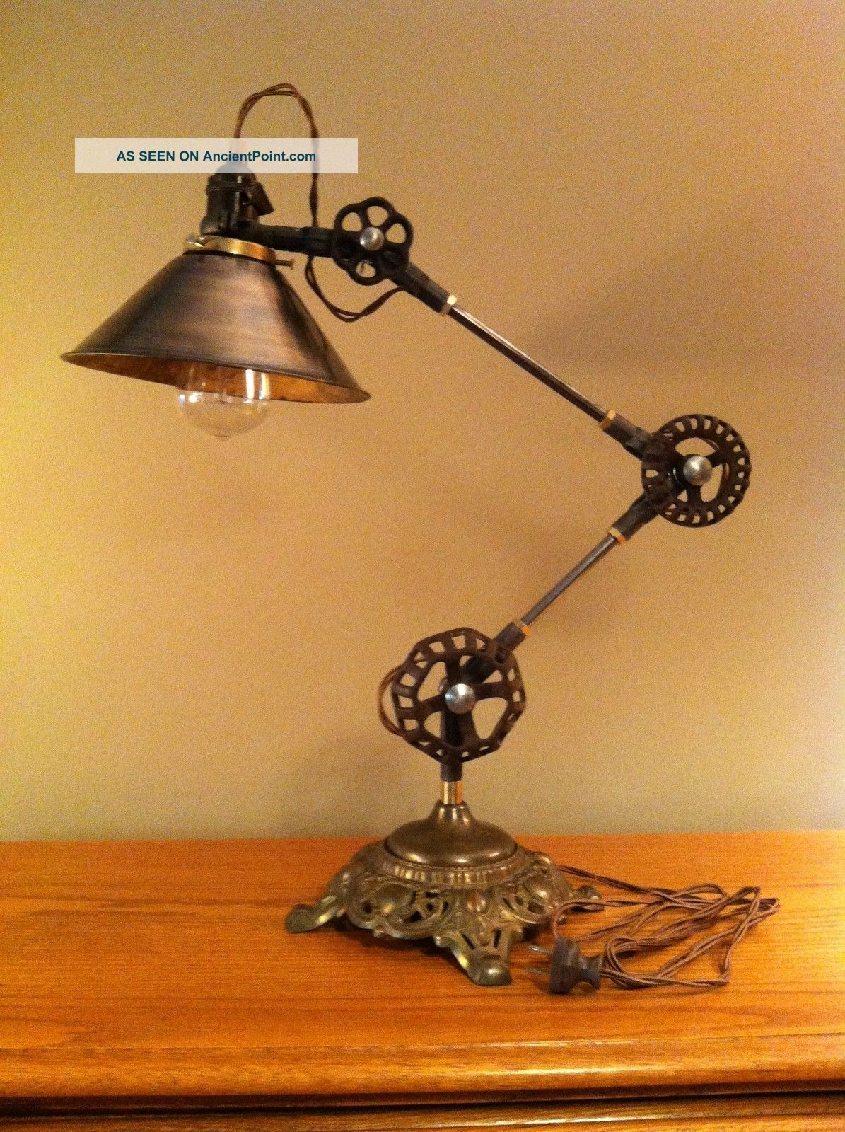 Vintage Industrial Desk Lamp Machine Age