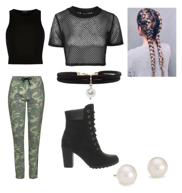 """""""Camila Cabello"""" by princesscc2001 on Polyvore featuring Topshop, River Island, Timberland, Forever 21 and Blue Nile"""
