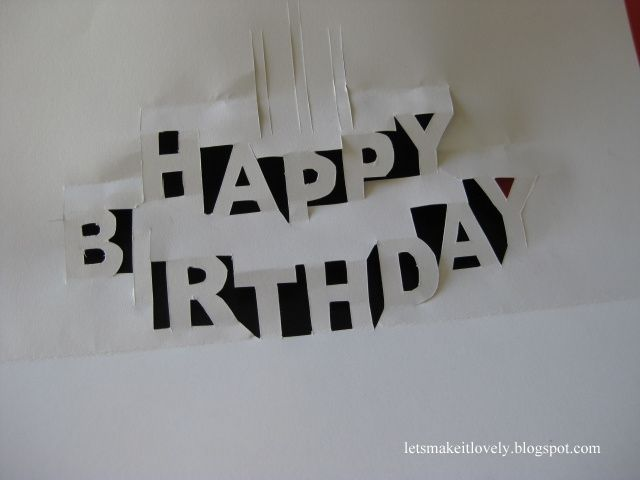 DIY Happy Birthday Pop Up Card – Happy Birthday Pop Up Cards
