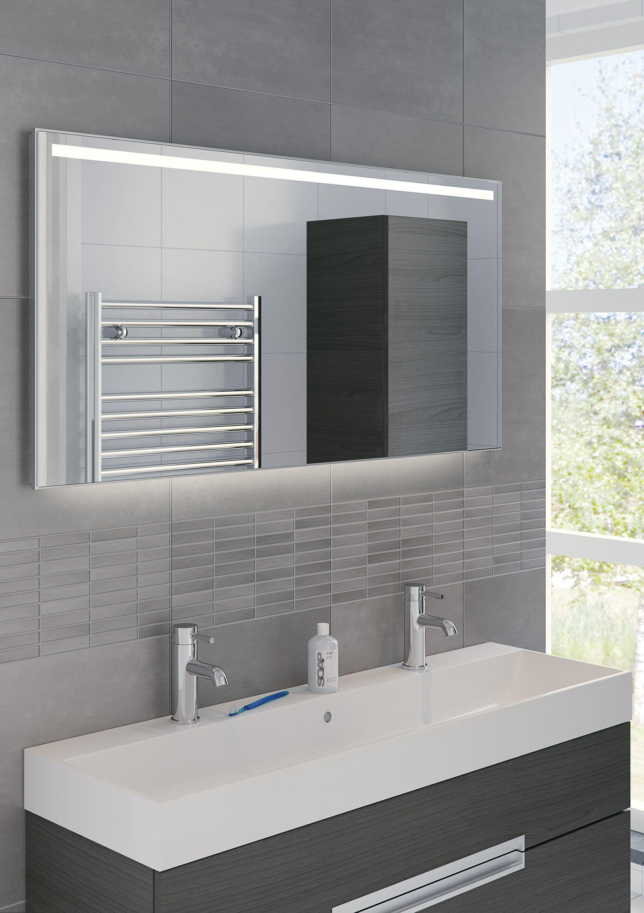 Bruynzeel spiegel met horizontale LED-verlichting en ...