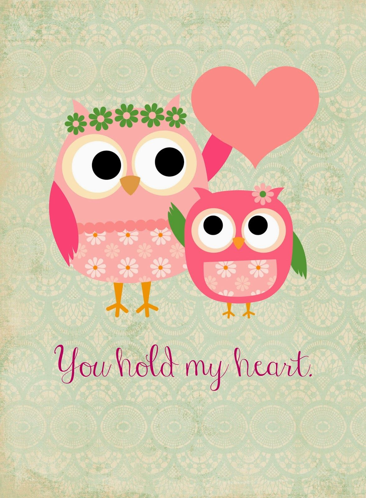 Free Owl Themed Mother\'s Day {Printables | Eule und Sprüche