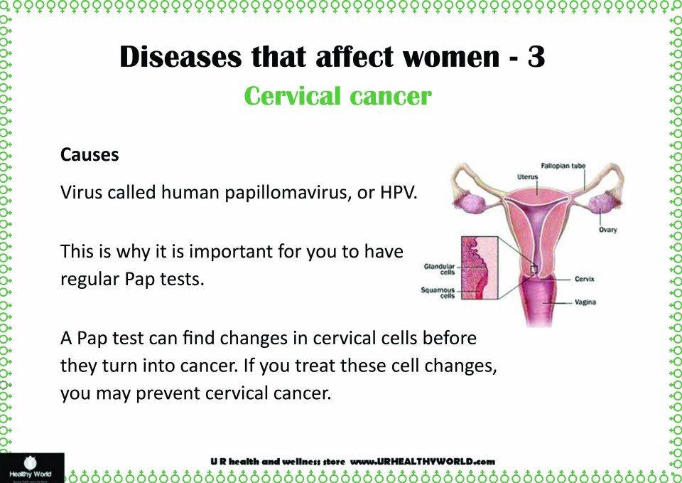 Diseases that affect women
