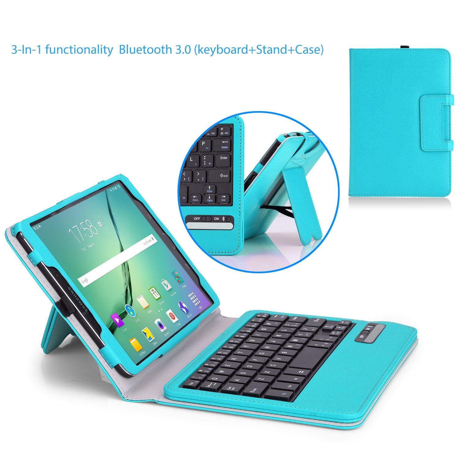 wholesale dealer c20a8 678e5 MoKo Samsung Galaxy Tab S2 8.0 Case - Wireless Bluetooth Keyboard ...