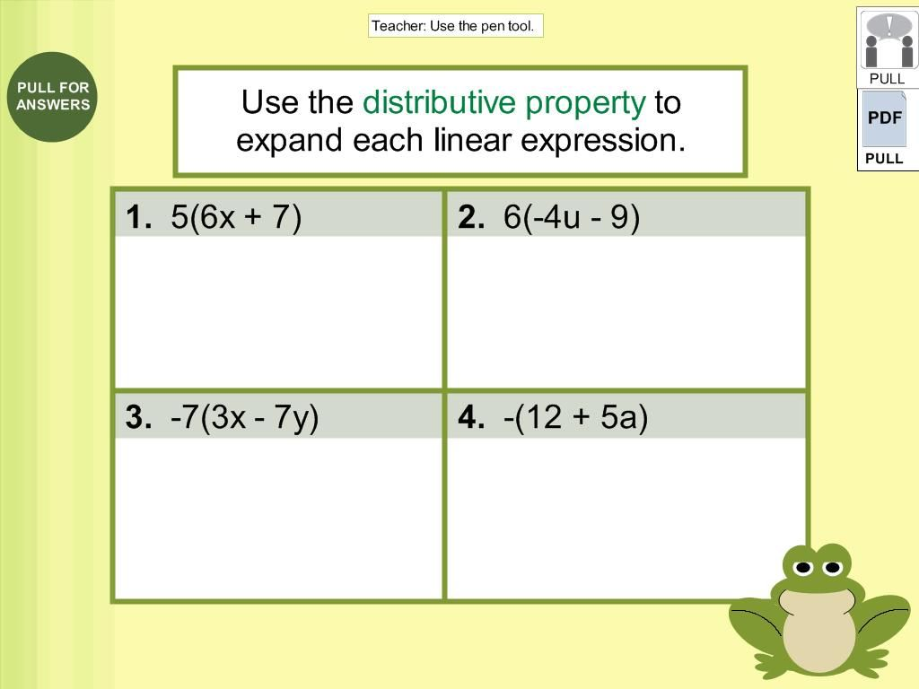 7th Grade Expand And Factor Linear Expressions Lessons
